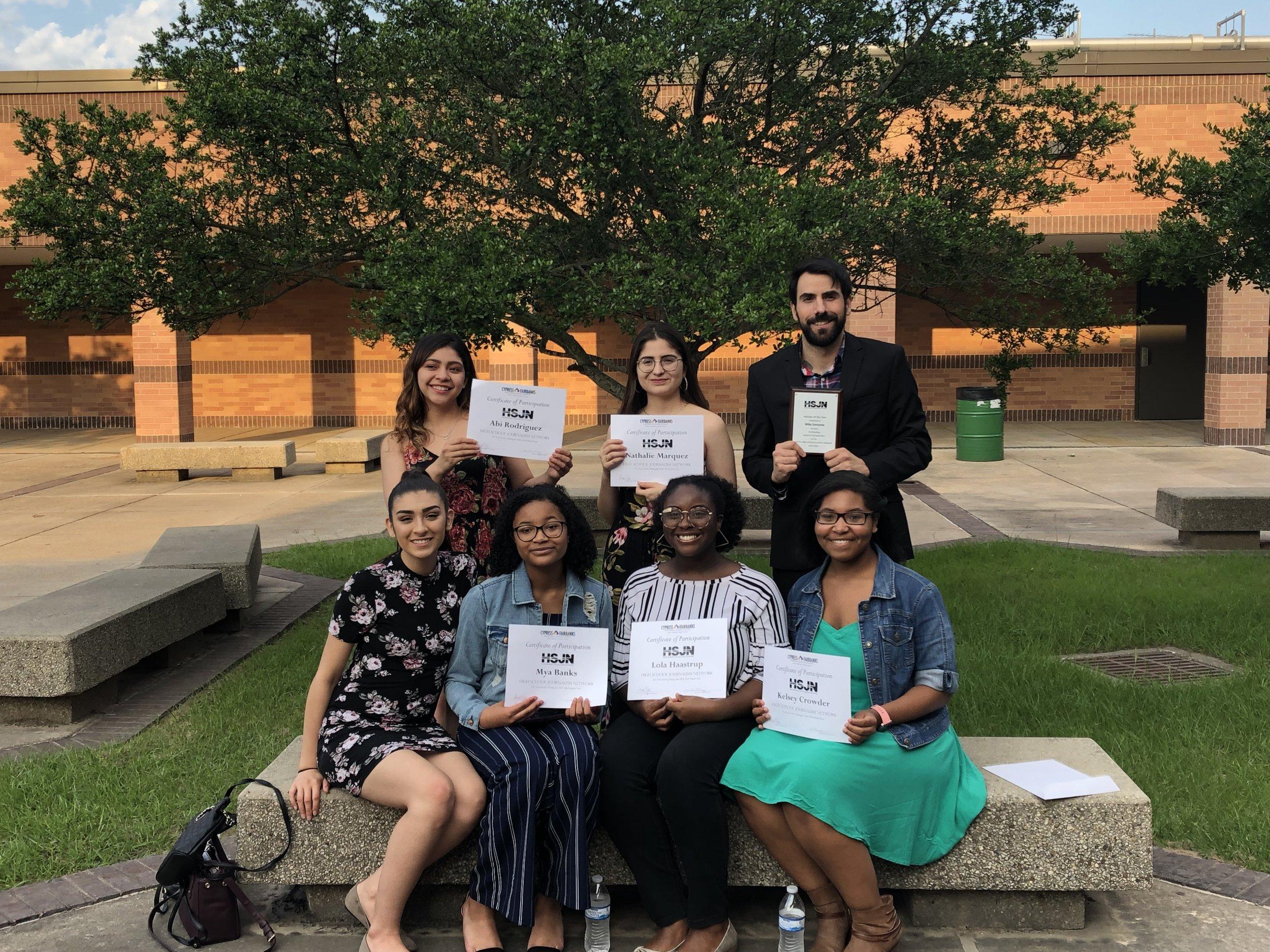 The journalism department receives awards at HSJN. (Noah Spencer)