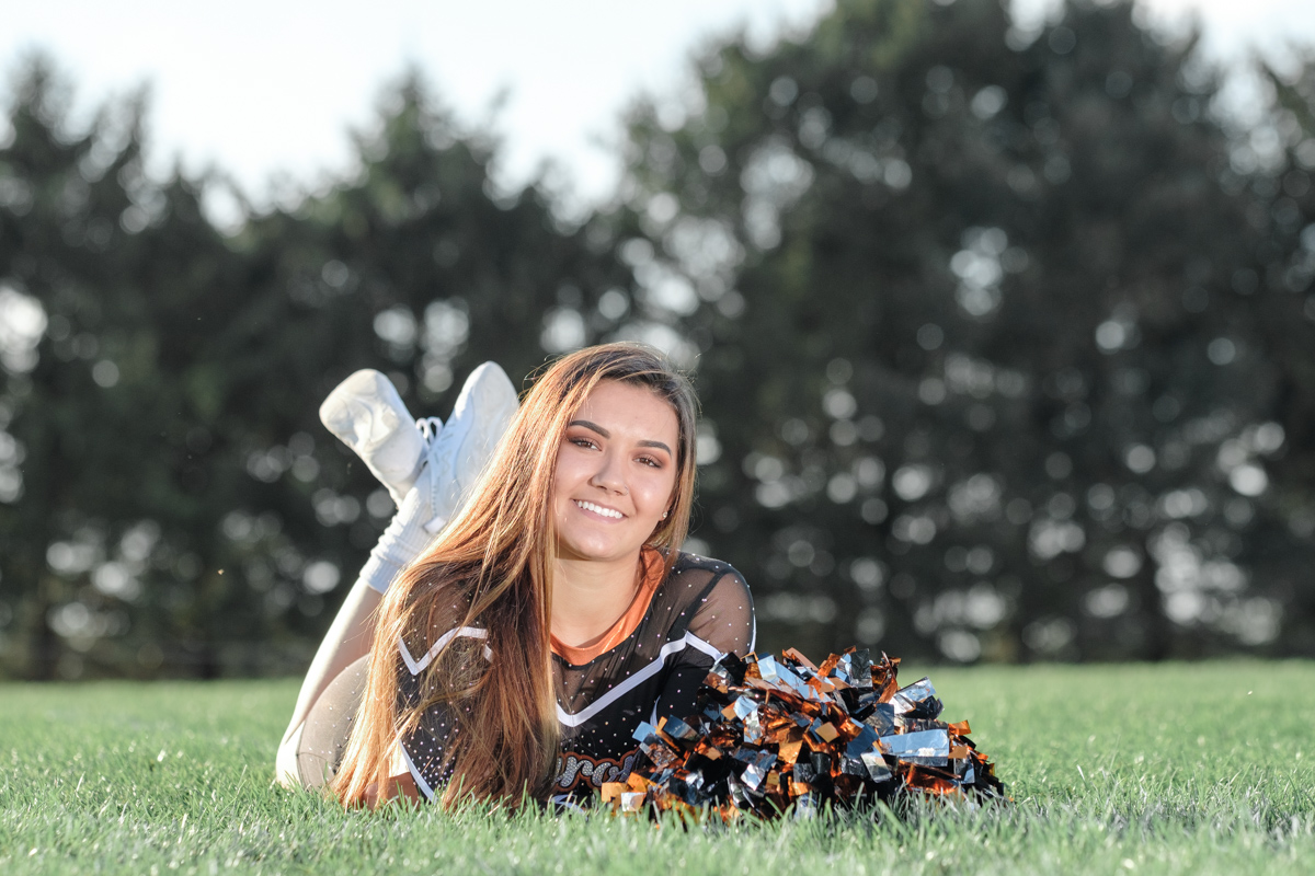 Byron Tigers, Go Tigers, TIger Bride, Byron High School Senior, Senior Portraits, Senior Photographer, Orange and Black, Cheerleader, Strong, Model, Byron Photographer