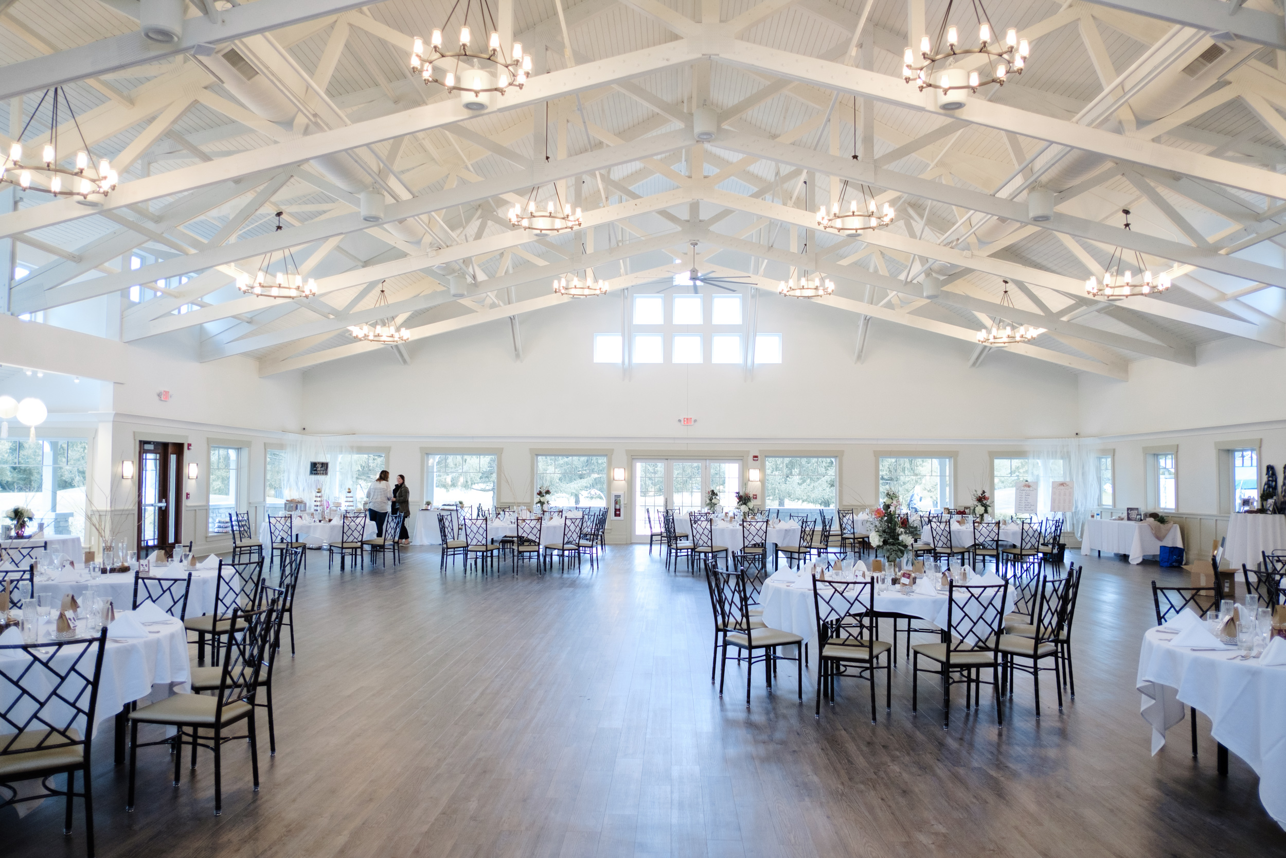 View of wedding venue setup at Rockford Bank and Trust Pavilion.