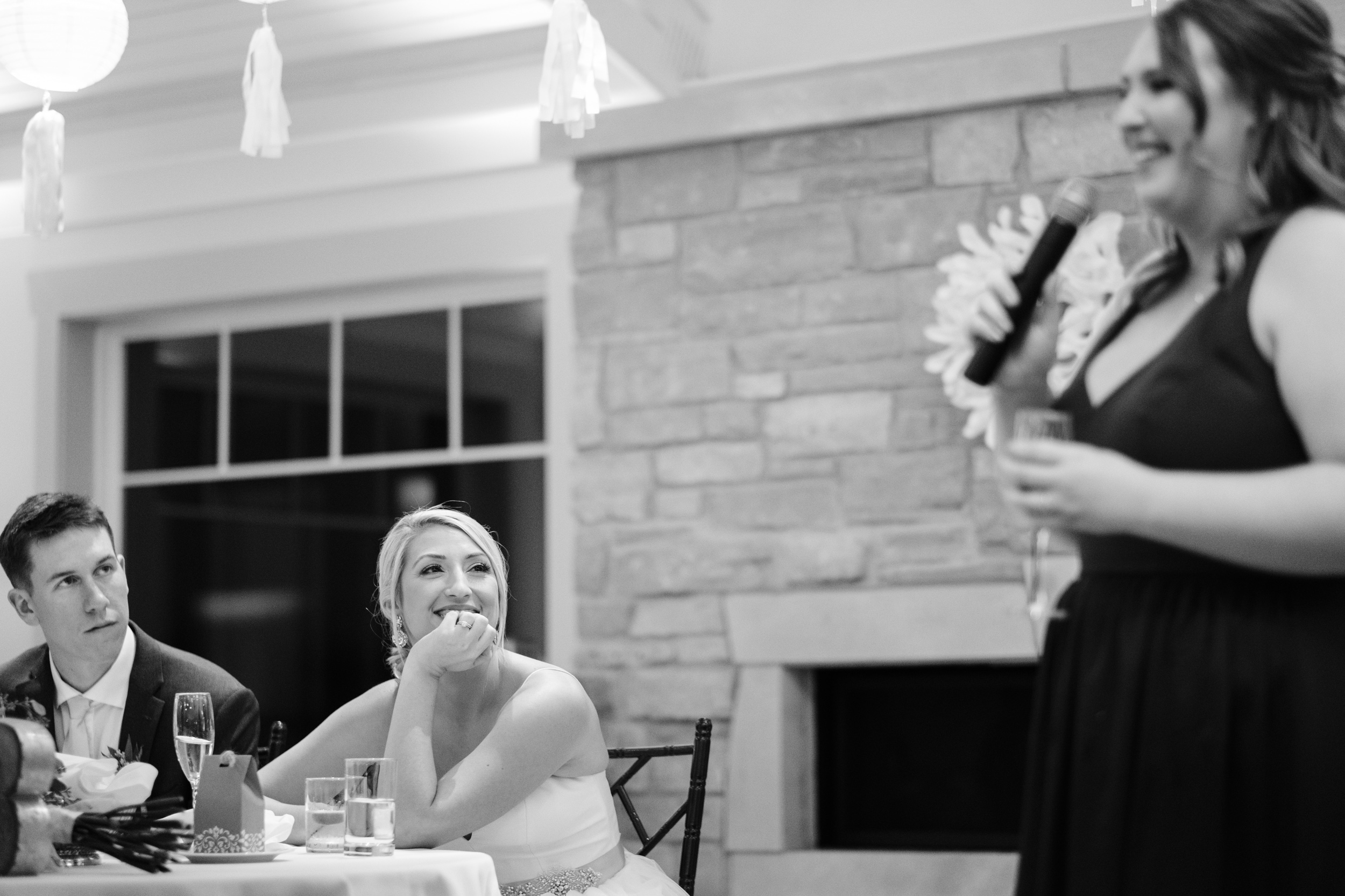 capturing the natural moments like maid of honor speech
