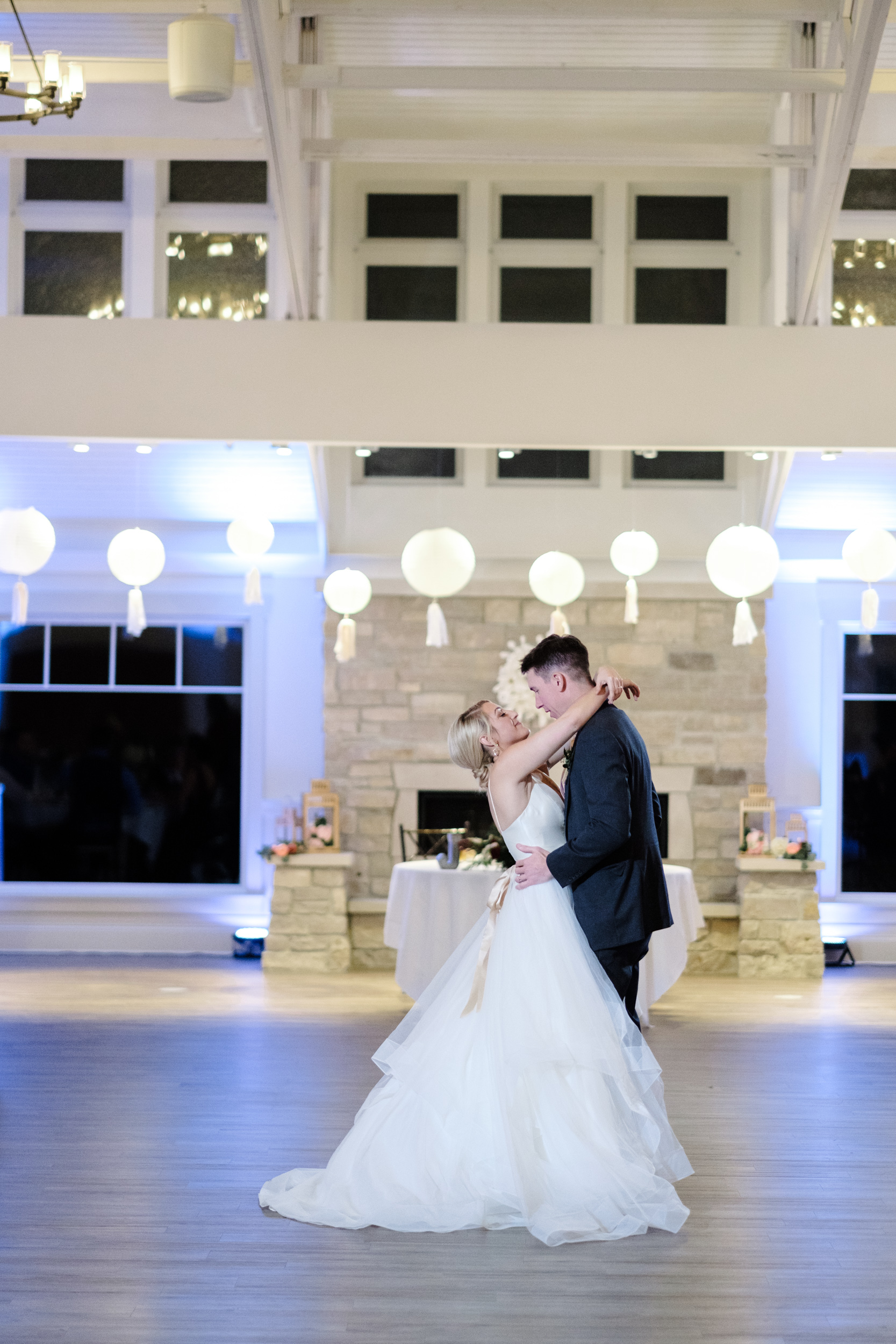 first dance for bride and groom in Rockford, IL