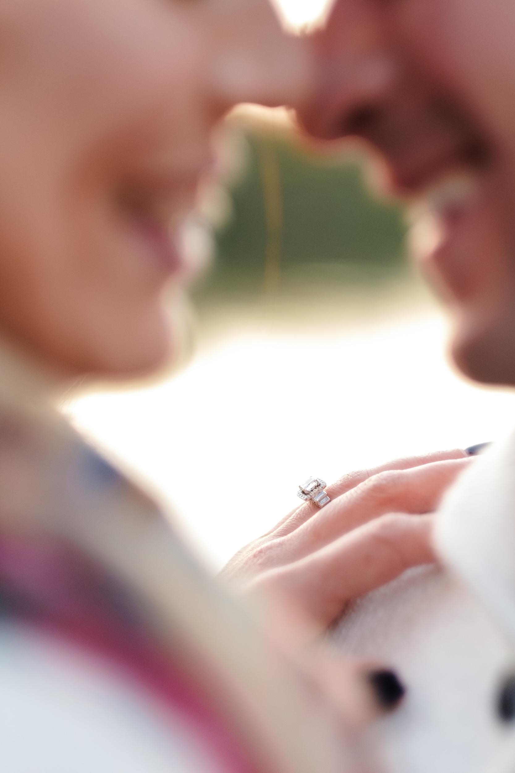 romantic golden light  engagement at Rock Cut State Park
