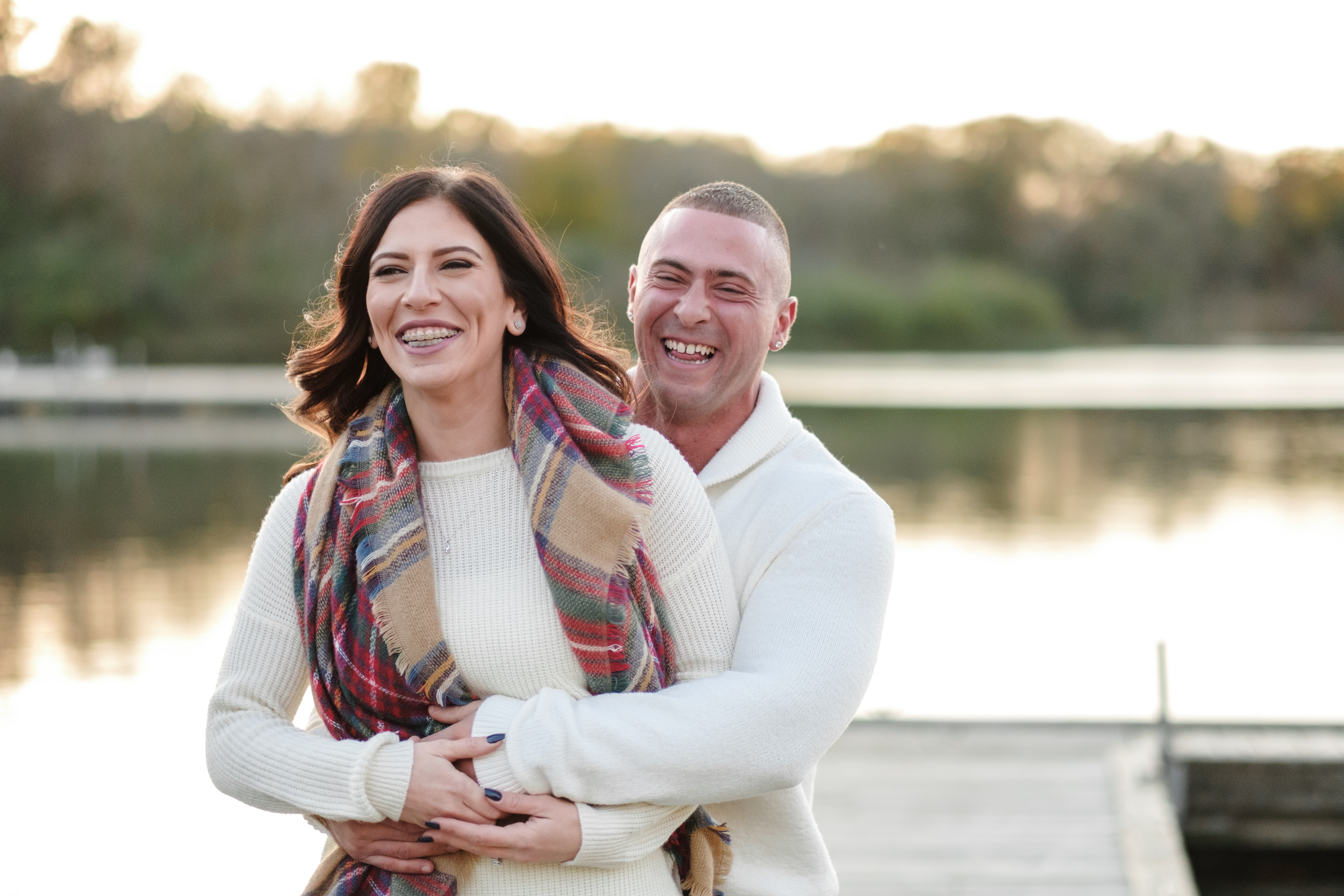natural light photography at sunset Rockford, IL engagement
