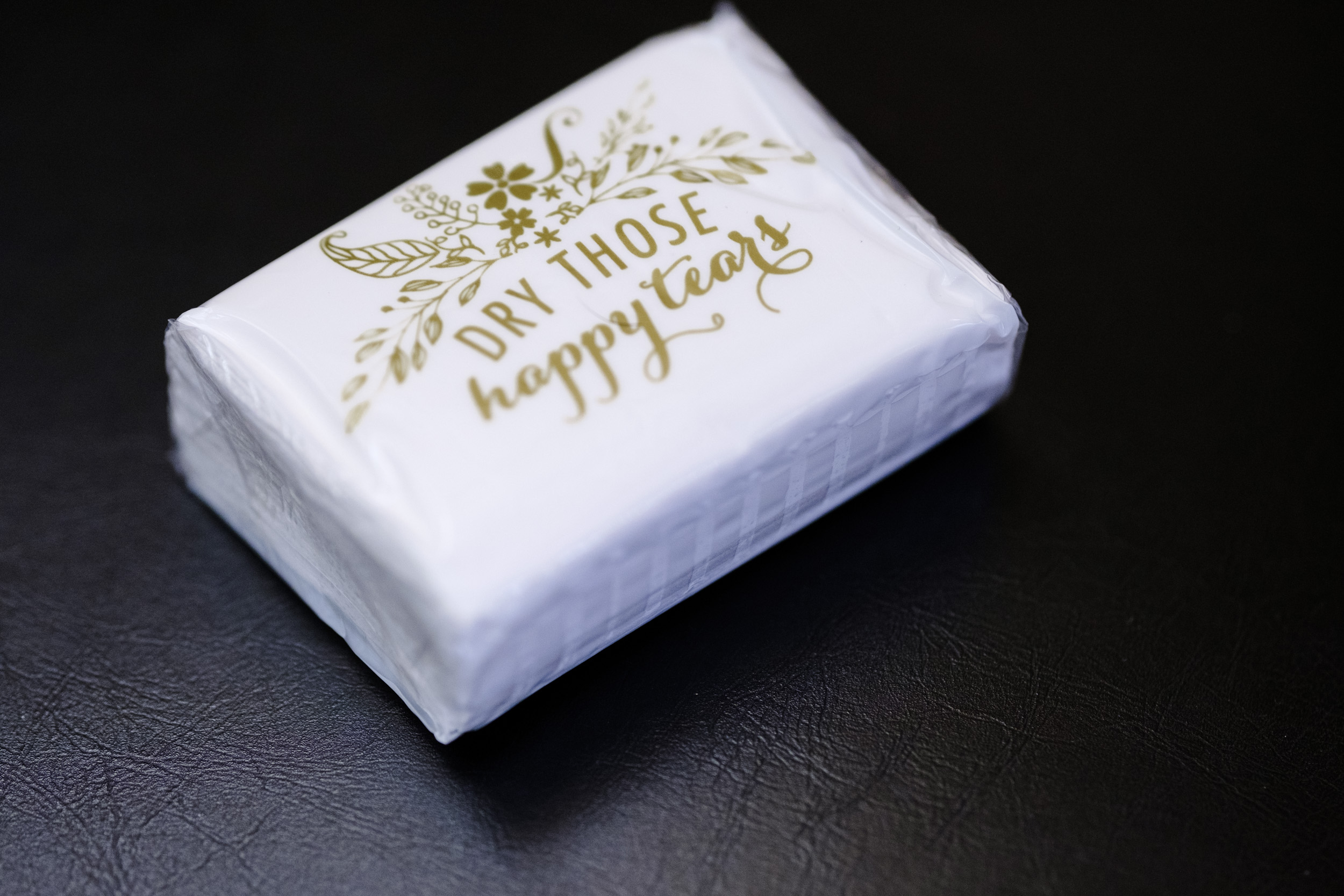 Kleenex for guests at Pabst best place wedding in milwaukee, wisconsin by rockford wedding photographer b. adams photography
