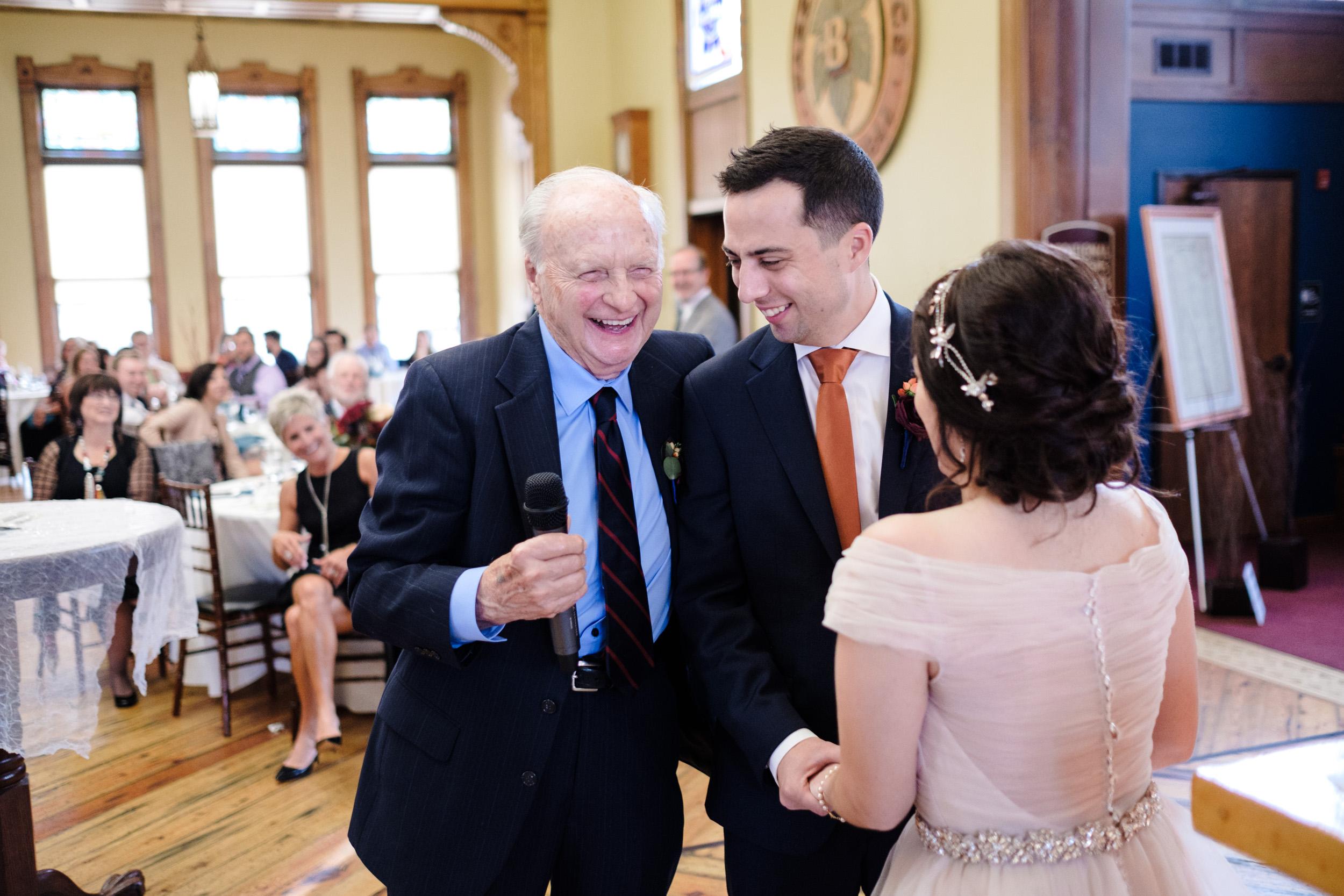 grandfather speech to bride and groom, wisconsin wedding