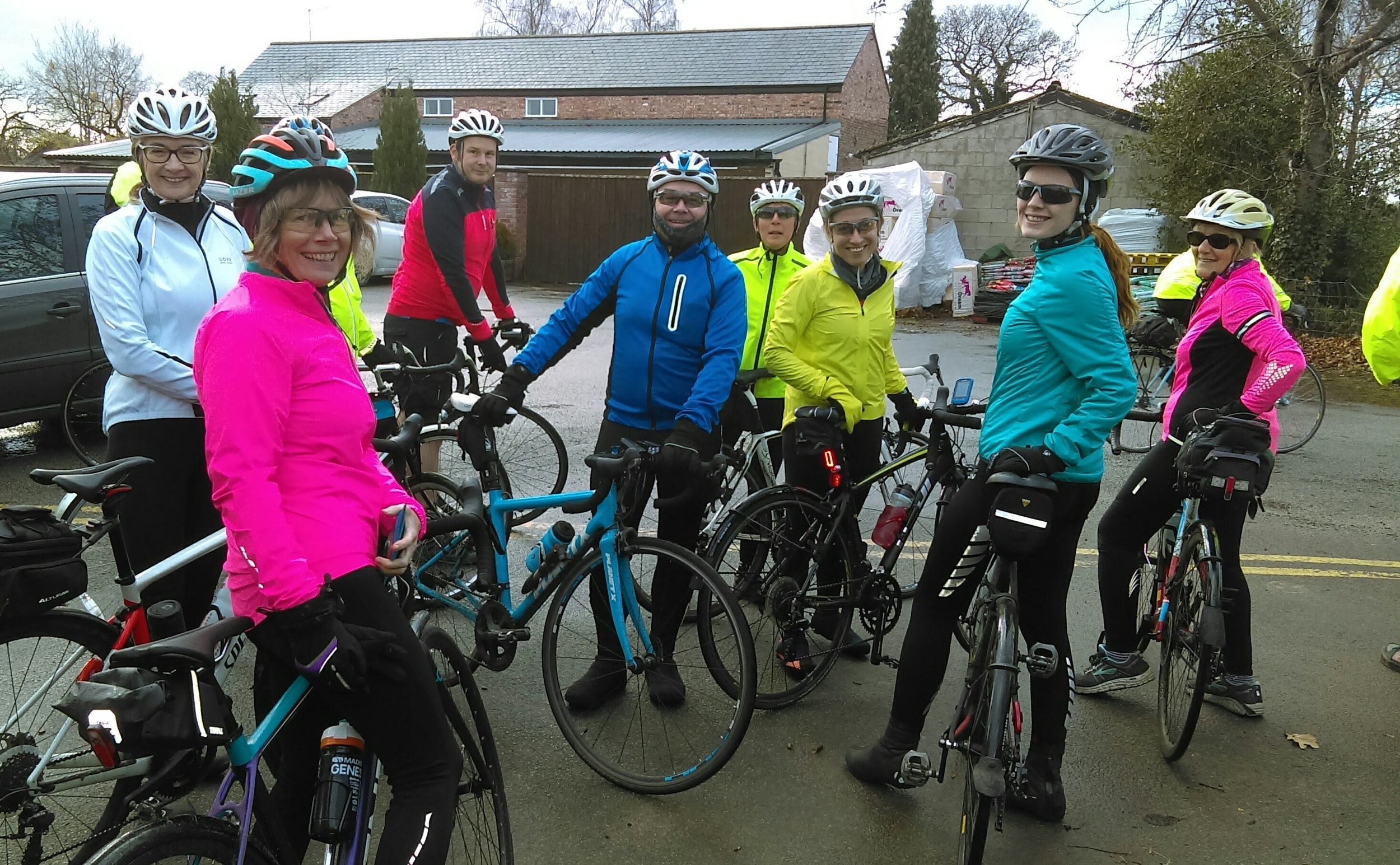 The more colourful riders!