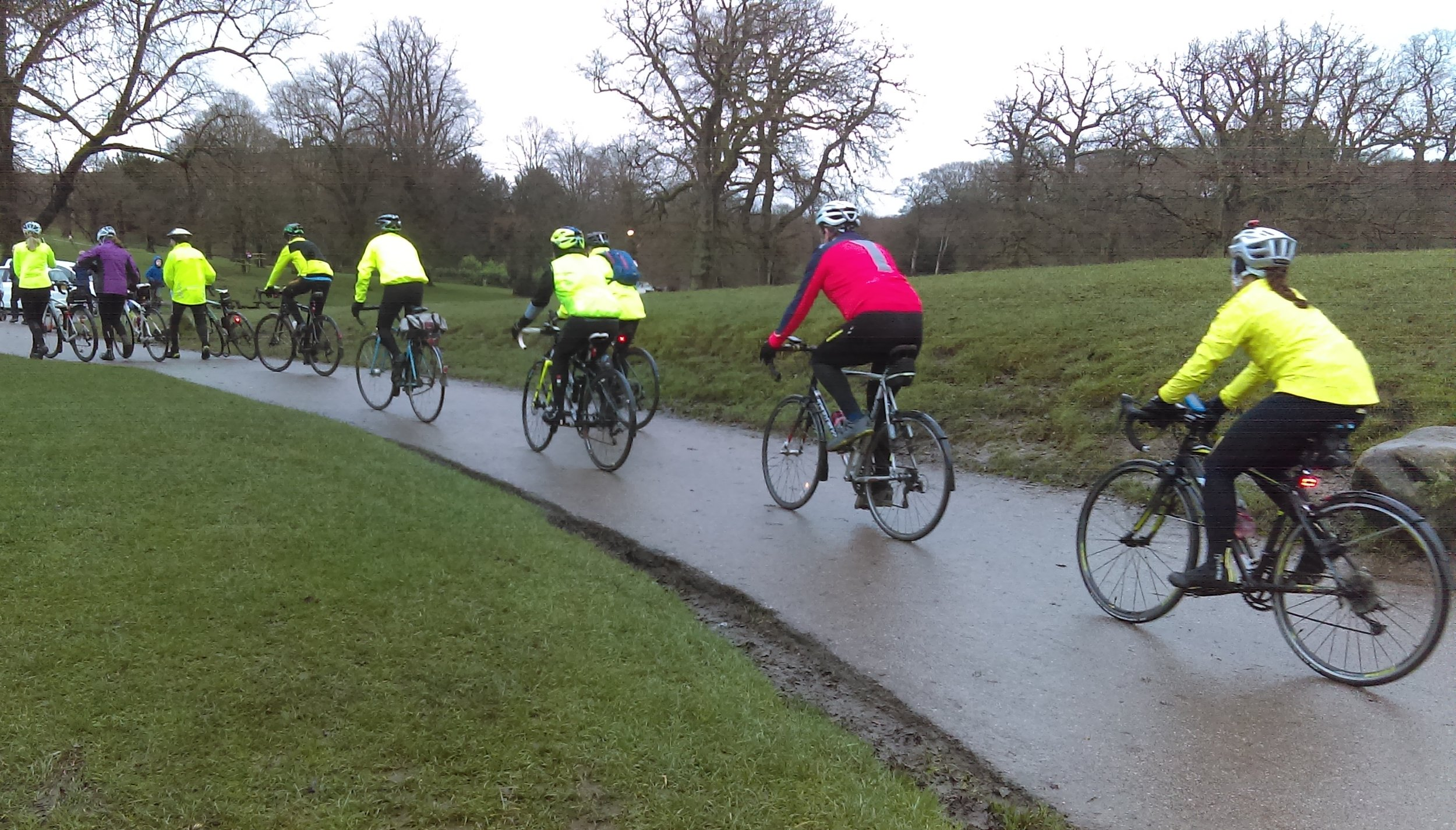 Setting off from Lyme Park cafe