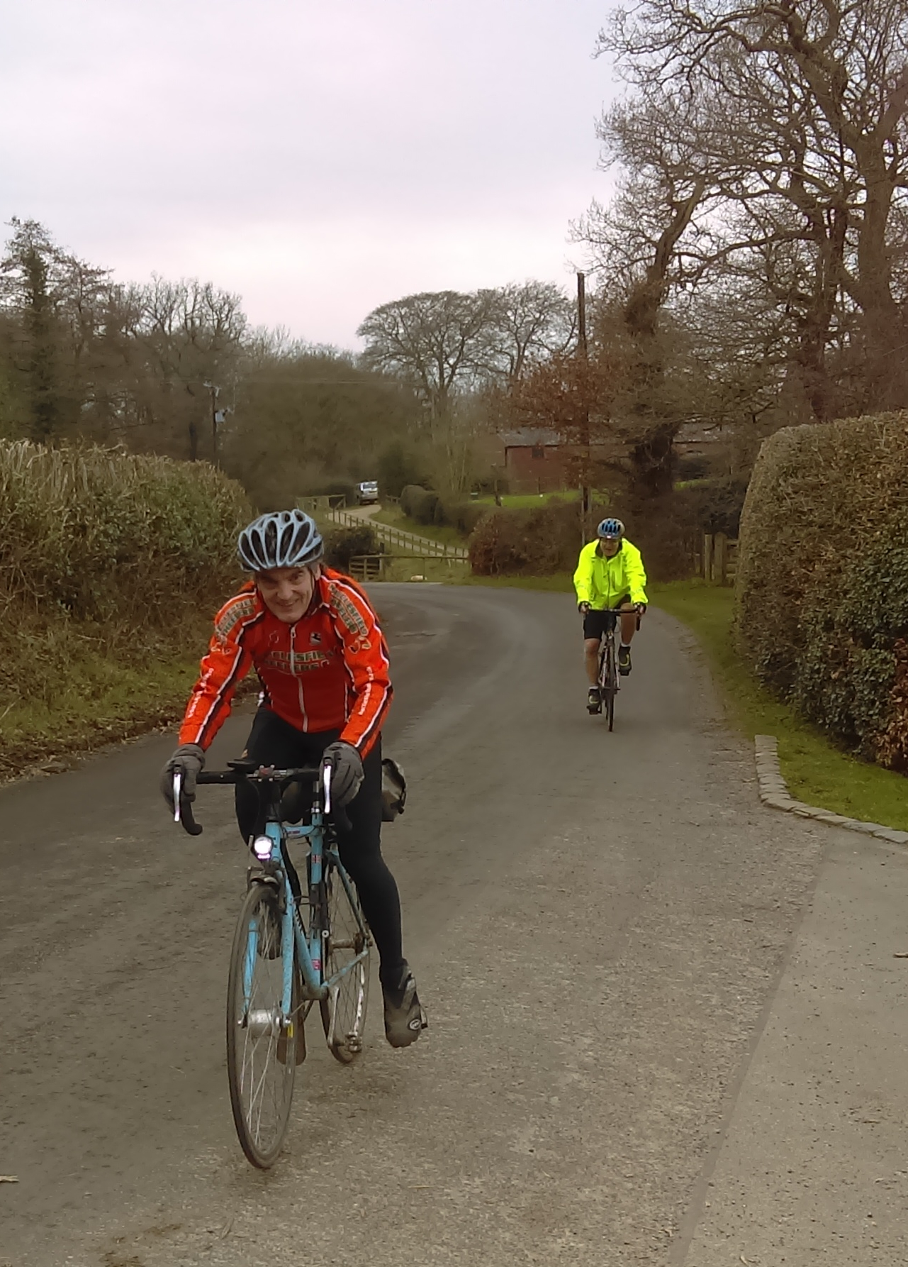 John showing us how to ride up Artists Lane one legged on fixed!
