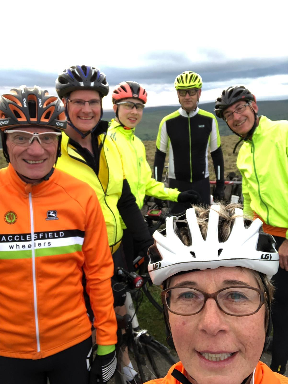Nigel, James, Stephen (who has been doing this ride since it started, longer than any of us), Ewan, Alison, Steve).