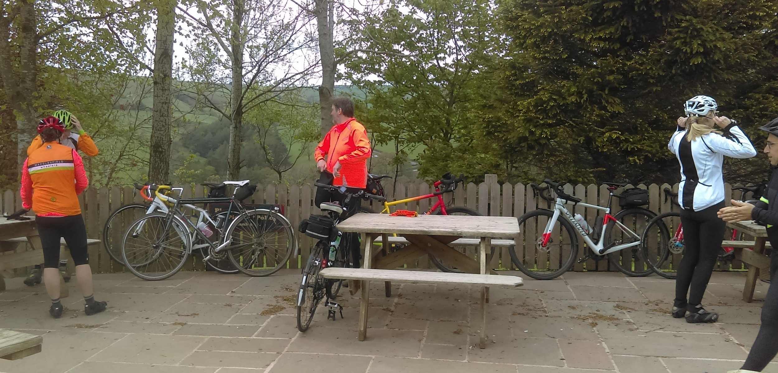 After refuelling at the cafe