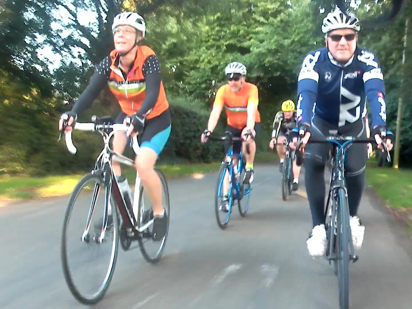 Alison, Gareth & Dave all new to the ride going smoothly through