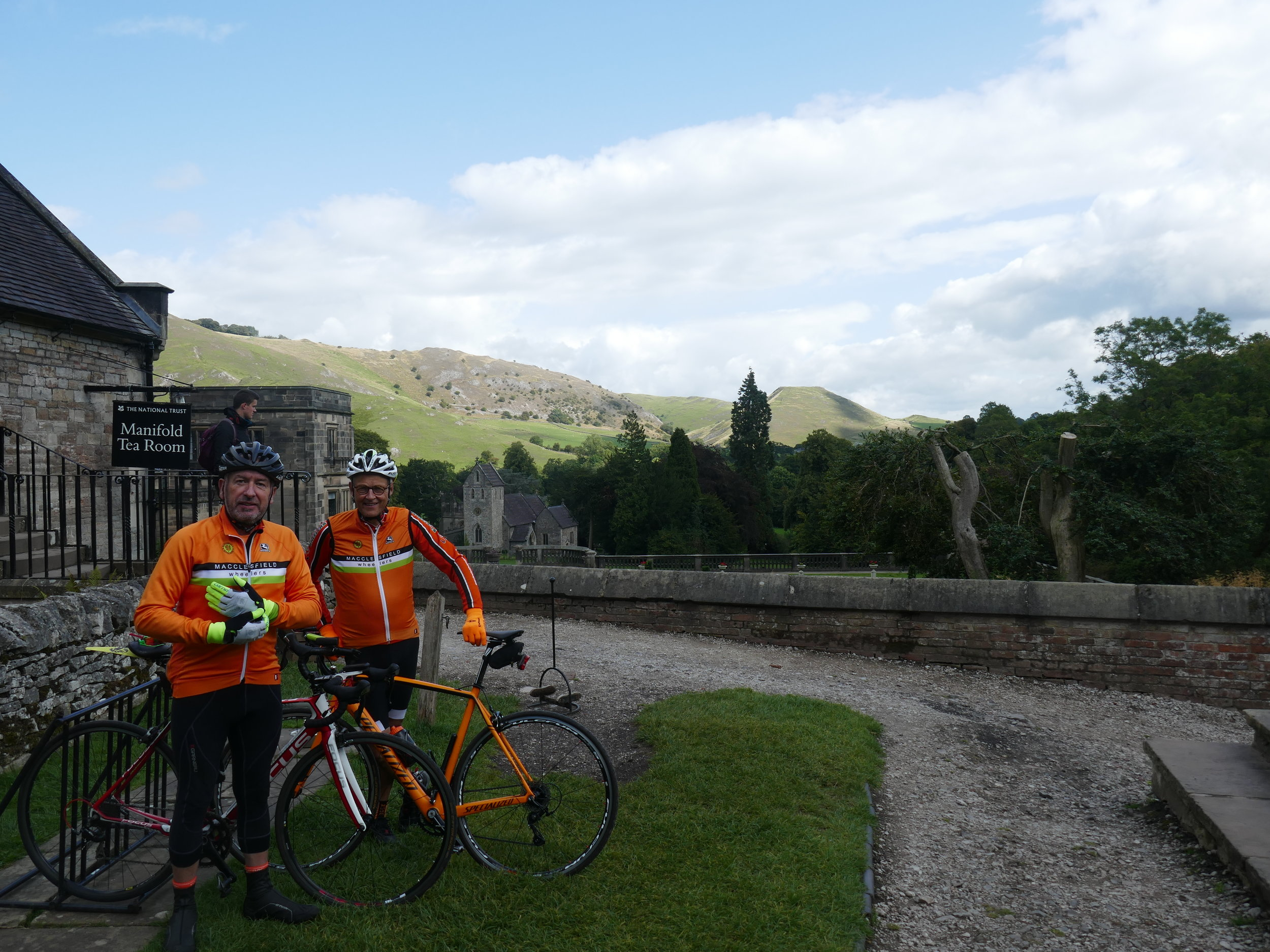 Pete and Chris at Ilam Park cafe