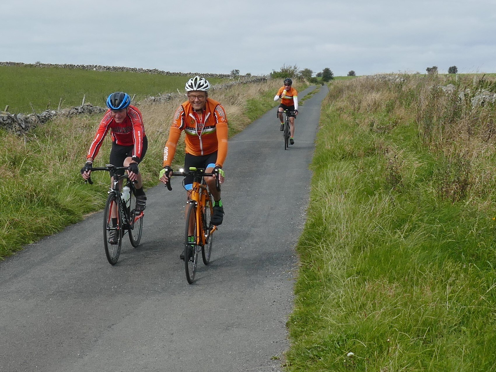 Dave, Chris and Pete on Pasture Lane near Flagg