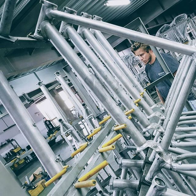 Checking out aluminum production facilities for our two new models.  #Bike #Design #Electricbike #Elektrisch #Fietsen #Factory #Aluminum