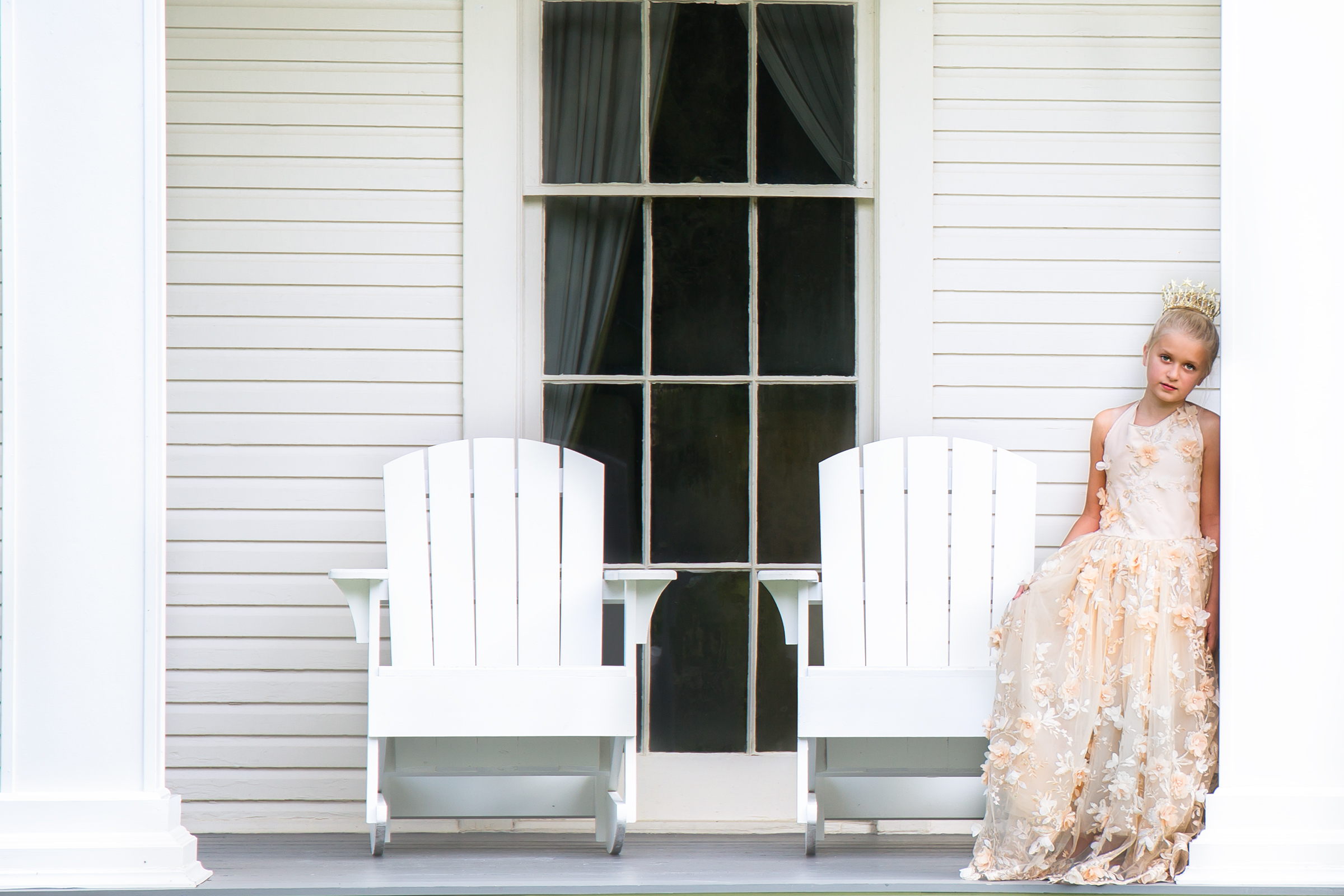 Relaxing on the Historic porch of the Wesley House