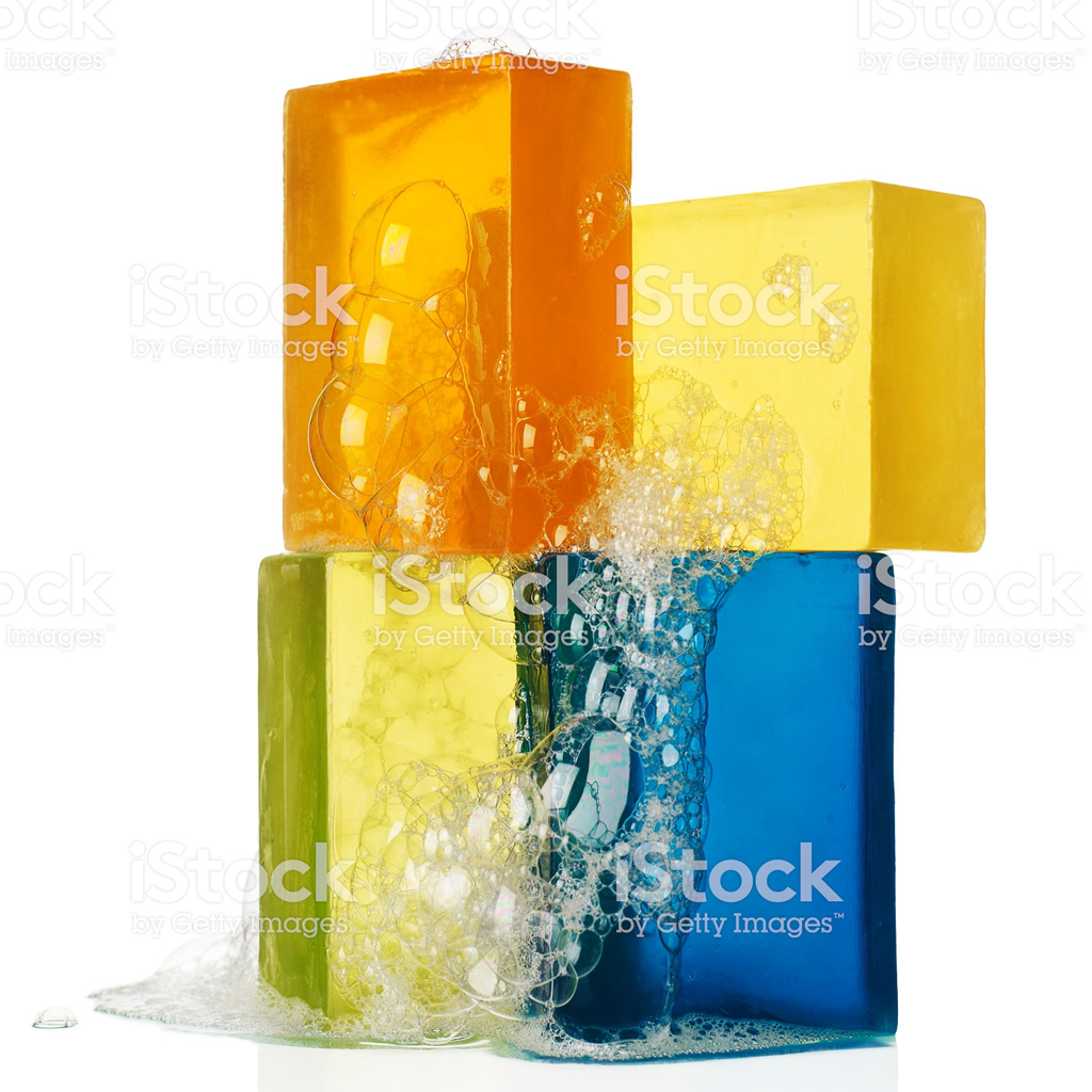 This is a really intriguing stack of sudsy soap which is part of a series spotted on iStock and created by artist VintageRobot