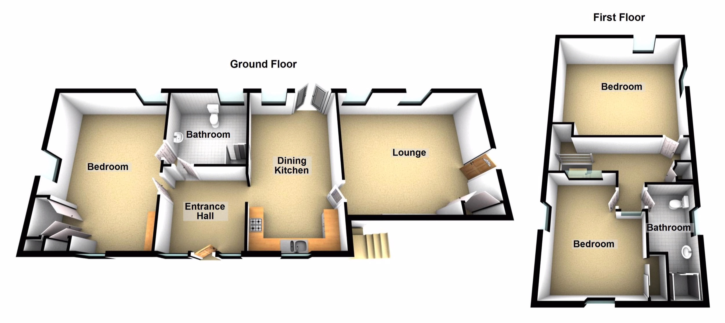 click on the floor plan to explore an interactive tour of The Coach House