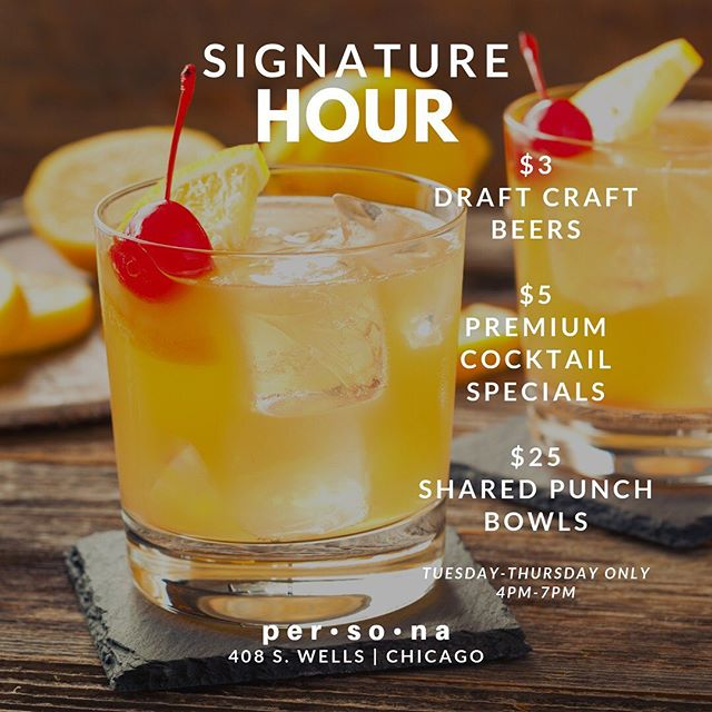 🚨 JOIN US NOW for the best Happy Hour in the city! $5 Premium Cocktails...YES...Hennessy, Grey Goose, Don Julio, Maker's Mark, Patron, Dusse, Long Islands Margaritas etc... ALL PREMIUM!!! $3 Draft Beers...Foreign, Craft and Domestic! Tuesday-Thursday from 4pm-7pm @personalounge