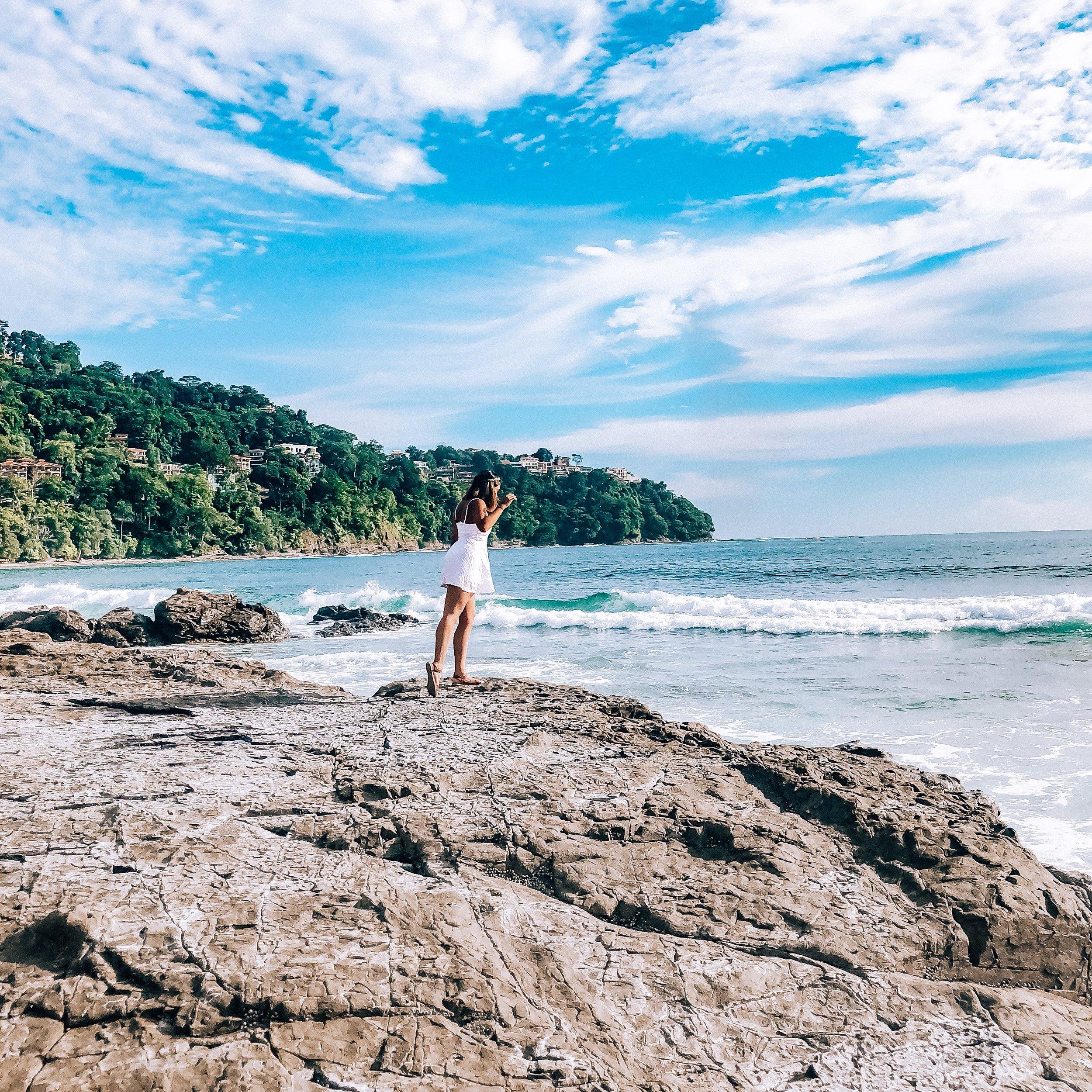 This is me overlooking the wonderful playa blanca in Jaco, Costa Rica.