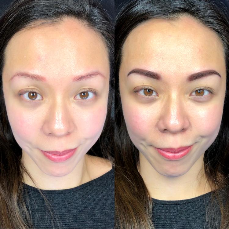 Permanente make-up l Powder Ombre brows. Correctie op oude PMU elders gezet.