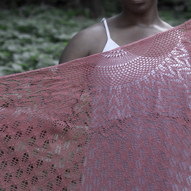 Caltha - by Heather ZoppettiThis spectacular shawl turns heads wherever it goes. Pattern repeats that are simple to memorize make it easier than it looks to knit. The ruffle trim completes a look that is totally feminine and completely unforgettable.