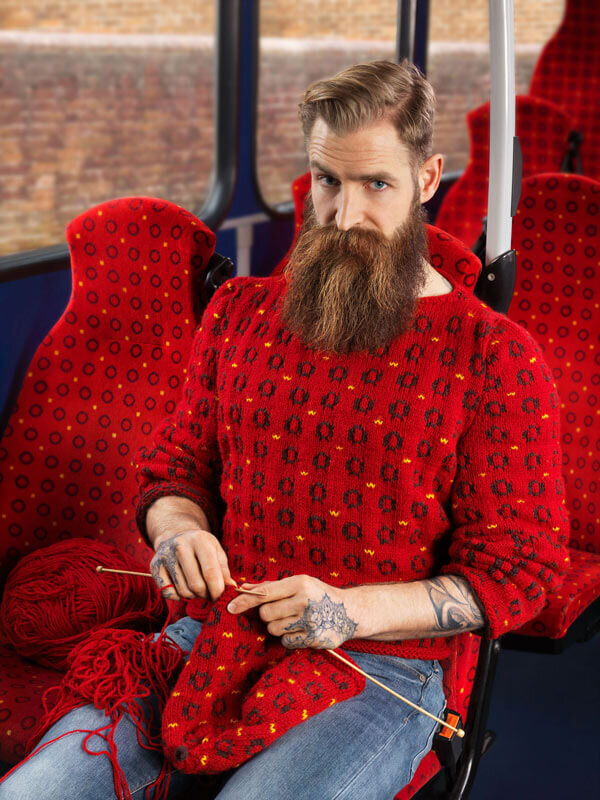 Knitted bus jumper