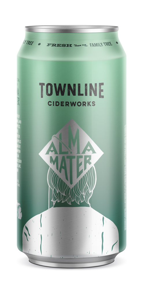 alma mater - Honor thy Alma Mater. A Big blend of MAC, Greening, and Spartan apples. Flavors reminiscent of tart green apples and days gone by. A true championof what an easy-drinking cider should taste like. Go Green!2018 GLINTCAP AWARD: BRONZE - MODERN CIDER, SWEET6% alc. / vol.