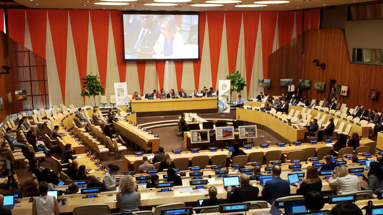 UN Environment Executive Director Inger Andersen announcing the Faiths for Forests campaign launch at the UN Climate Action Summit 2019.