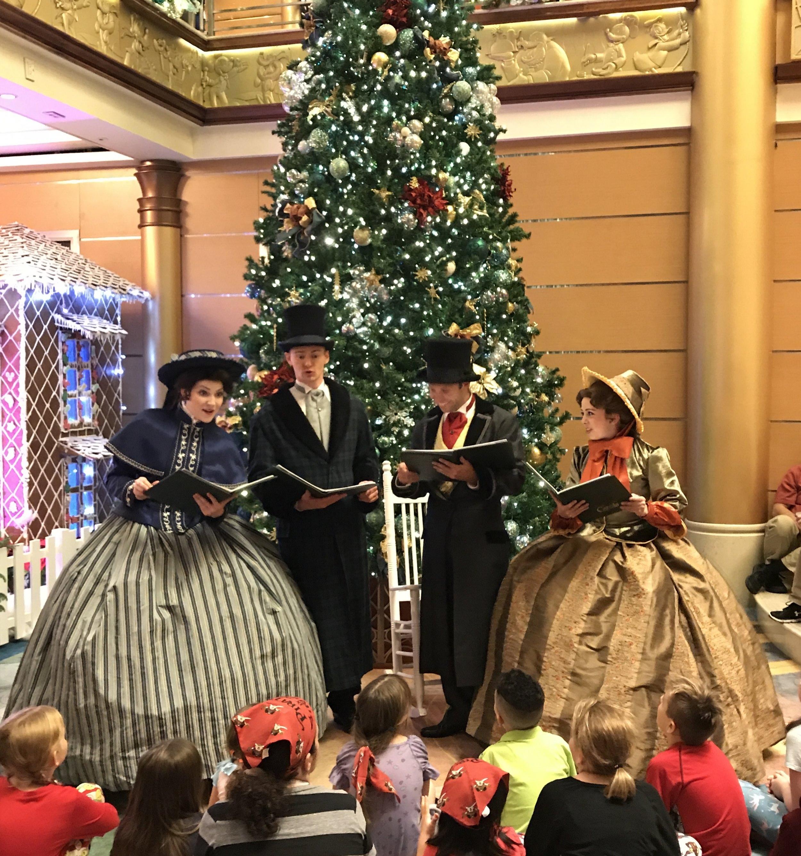 Dickensian Carolers aboard Disney Cruise Line