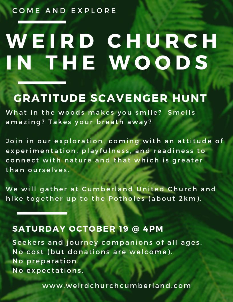 Weird Church in the Woods Oct 2019 Gratitude Scavenger Hunt.png