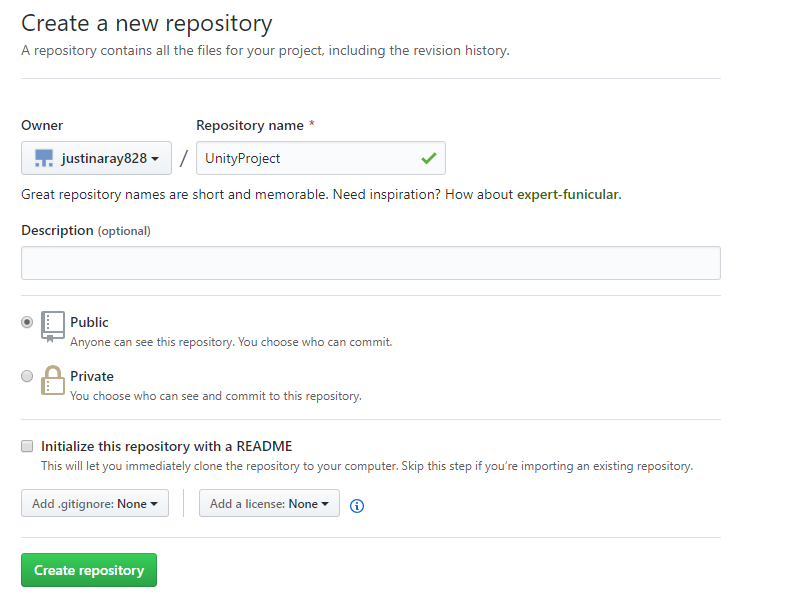 Setting Up a Git Repository for Unity Projects — Justin Ray
