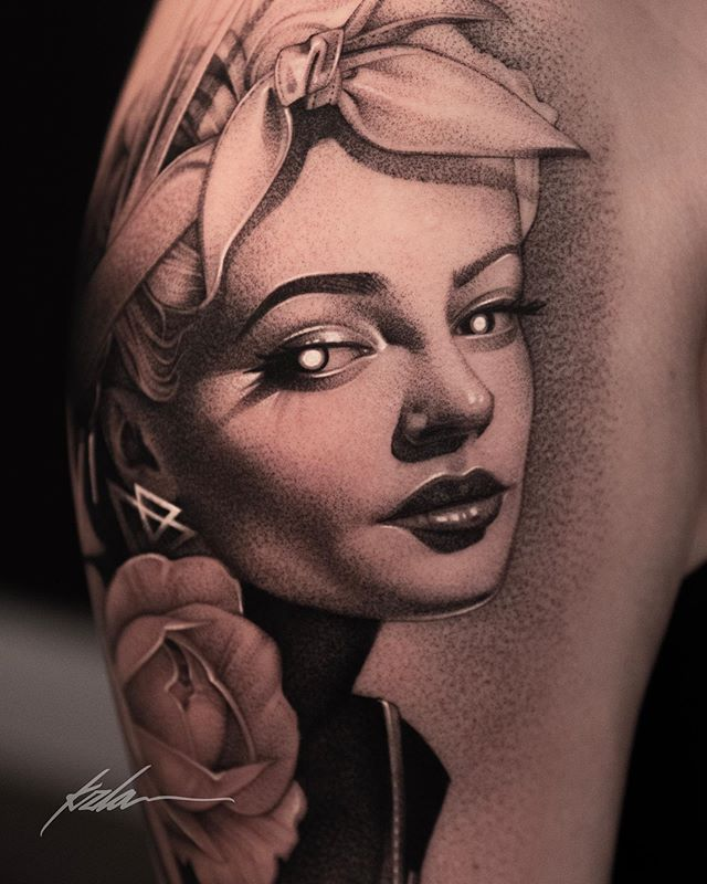 Pinup girl by @kzla_art  Done with @empireinks ∙ ∙ • Inquiries 📩 Booking@artlegacytattoo.com ∙ ∙ • • ∙ ∙ ∙ ∙ ∙ ∙ @hustlebutterdeluxe @skinart_mag @tattoo.colombia1 @tattoodo @tattoo.artists @tattoos_of_insta @inkspiretattoos @inkedmag @inkgeekstattoos @realistic.ink @blxckink @afterinked @saniderm @alpha.tattoos @skinart_mag @inkedmag @worldwideinkmag @bnginksociety @tattoo.colombia1 @inkedhearts_tattoo @goldenstatetattooexpo @the.best.tattoo.page @worldofpencils @d_world_of_ink @tattoo.artist artist @sullenfamily @tattoosocietymagazine @globaltattoomag @sullentv #dotstattoo#miamitattoo #blackngreytattoo #tattooart #wynwood ##artdistrict #artlegacytatto#hustlebutterdeluxe #blackngreytattoo #dotworktattoo #dotwork #art #miamitattoo #wynwoodtattoo #artlegacytattoo #bishoprotary #inkeeze #cheyennetattooequipment #fkirons #ogabel #goliathneedles #dynamiccolor #empireinks #empireinksproteam #kzlaart
