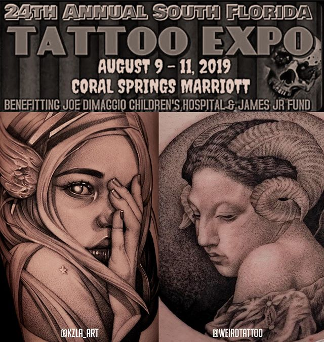 We will be attending at @sofl_tattoo_expo the next weeknd 9- 11, see yaa there!! #sofltattooexpo #2019 #artlegacytattoo #coralsprings #marriothotel