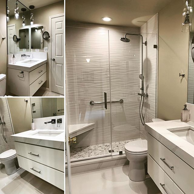 A small full bathroom was transformed to a bright & luxurious space.  Whether you want to just change a paint color or do a complete remodel, Chartreuse Design Studio can help.  Call to schedule your complimentary 30 minute consultation at the studio to discuss your project.