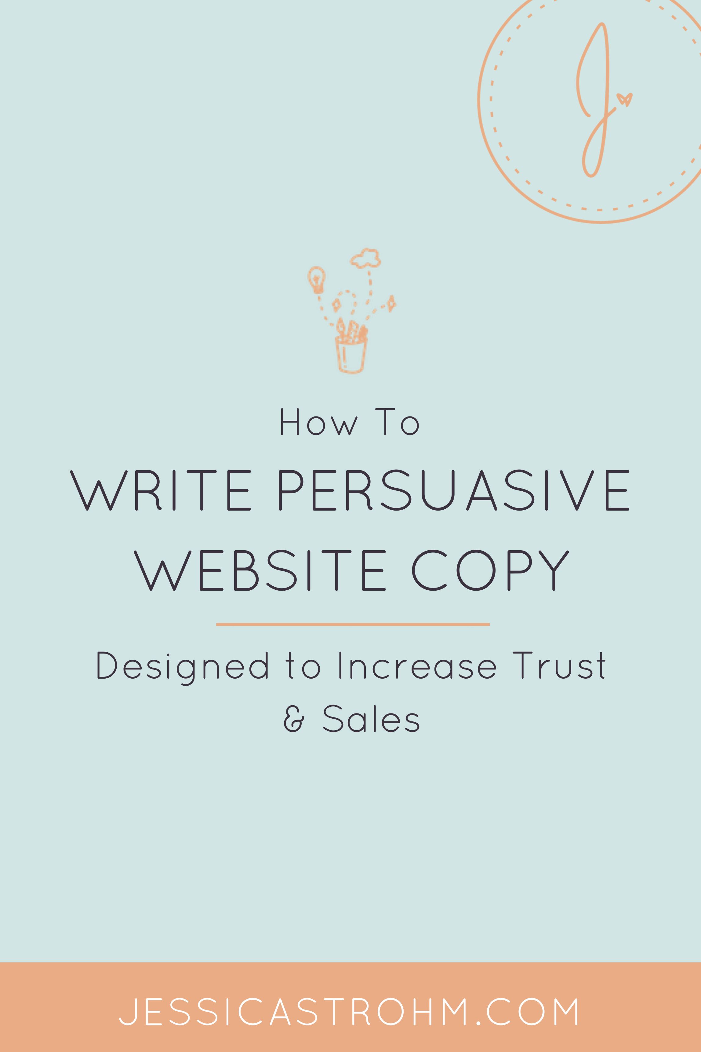 How to write persuasive website copy for your creative business that converts visitors into clients or customers.