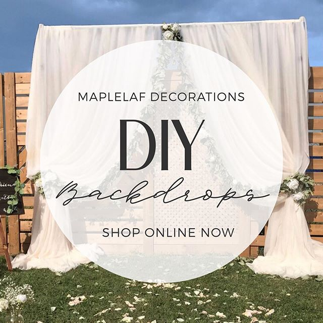 DIY BACKDROP RENTALS 🌿  Build your own backdrop now! From small backdrops for your sweetheart table to x-large backdrops for your entire entourage. Our rentals include all framing, fabrics and optional uplightung! Check link in bio to browse our DIY RENTALS online catalogue! 🛍  #mapleleafdecorations #mldrentals #weddingdecor #eventrentals #diyweddings #diybride #diybackdrop #diyweddingdecor #diydecor #weddingbackdrops #torontoweddingdecorators #torontoweddigplanner #weddingplanner #eventplanner