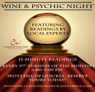 camelot cellars wine & psychic night.JPG