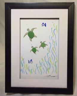 beach glass framed art 7-11.JPG