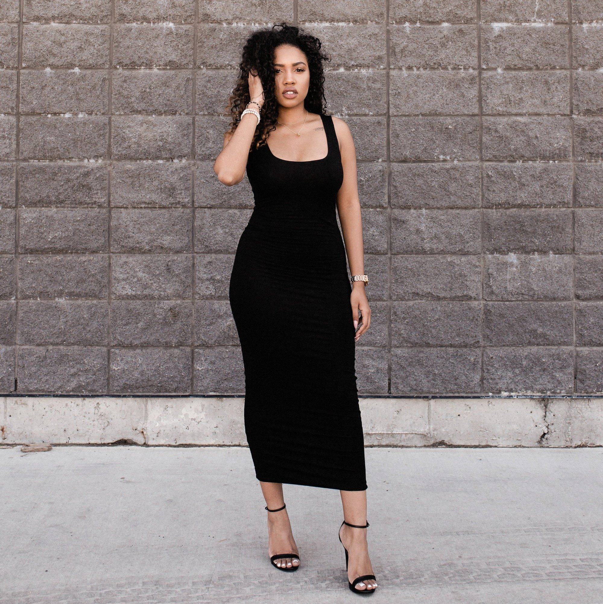 Double Layered Midi Tank Dress