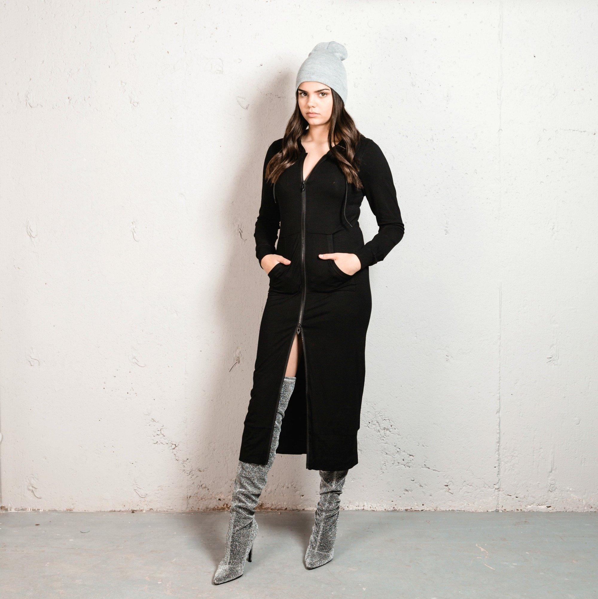 Double Layered Long Hoodie