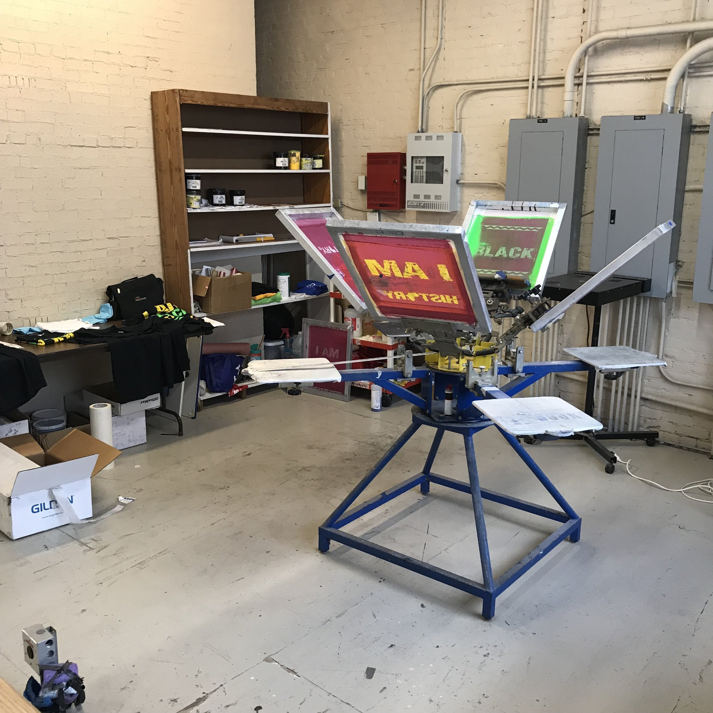 Screen Printing Station