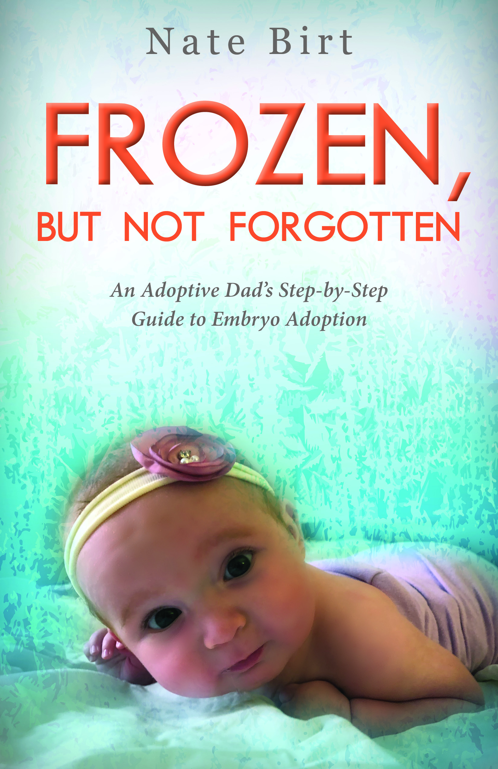 Cover image for the book Frozen, But Not Forgotten, written by Nate Birt. This embryo adoption guidebook, written by an adoptive Christian dad, helps couples interested in having a baby whether they face infertility or are considering this unique form of adoption with a goal of pregnancy to build their family.