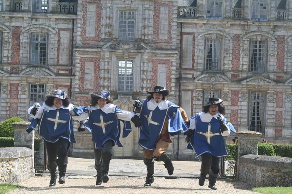 Les trois mousquetaires - Château de Beaumesnil - Juillet 2016
