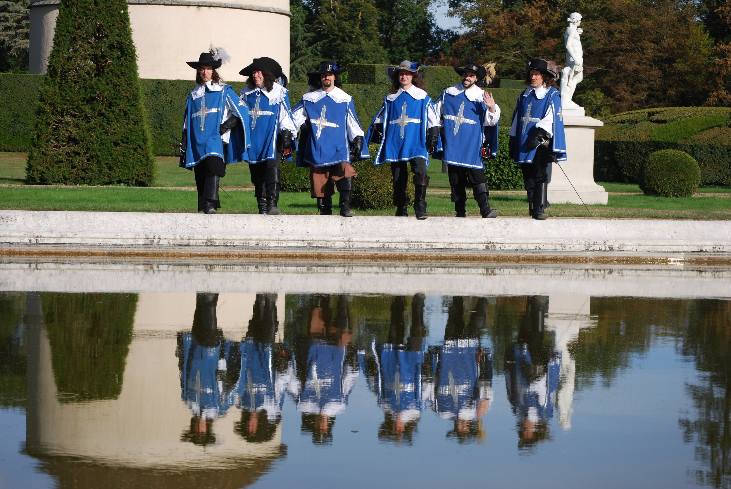 Les trois mousquetaires - Château de Breteuil - Septembre 2016