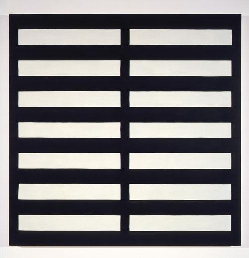 Dark Blue / 2 Ivory #1 , 1989 acrylic on canvas 60 x 60 inches