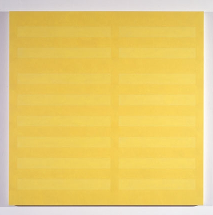 Yellow/8 Yellow #7 , 1989 acrylic on canvas 58-3/4 x 58-3/4 inches