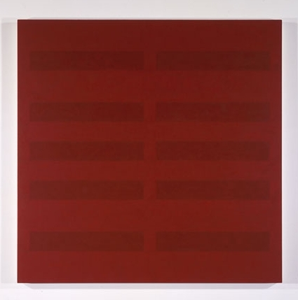 Red / 5 Red #8 , 1990 acrylic on canvas 54 x 54 inches