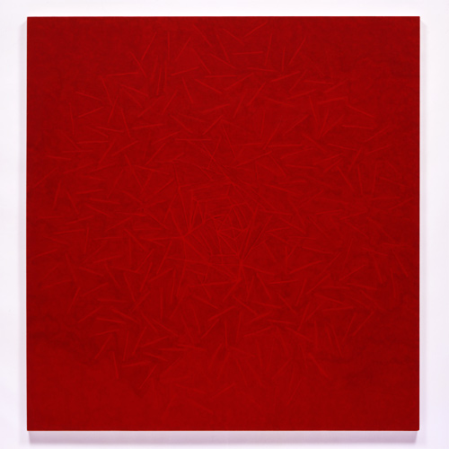 Red , 2005 acrylic on canvas 69 x 67 inches