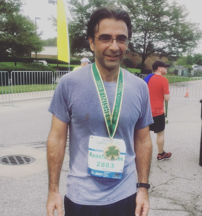 Dr. Demertzis successfully finishes the Emerald City Half Marathon