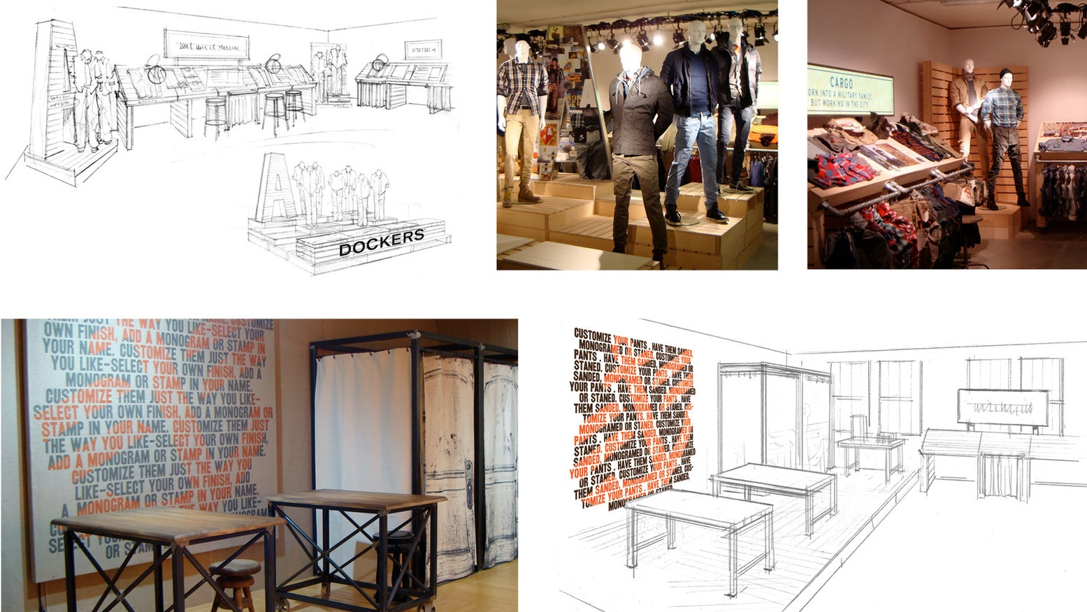 EU GO-TO-MARKET EVENTS - Inform the European retailers of the Fall 2011 line of Dockers khakis.Responsible for concept, graphics, layout and concept sketches.